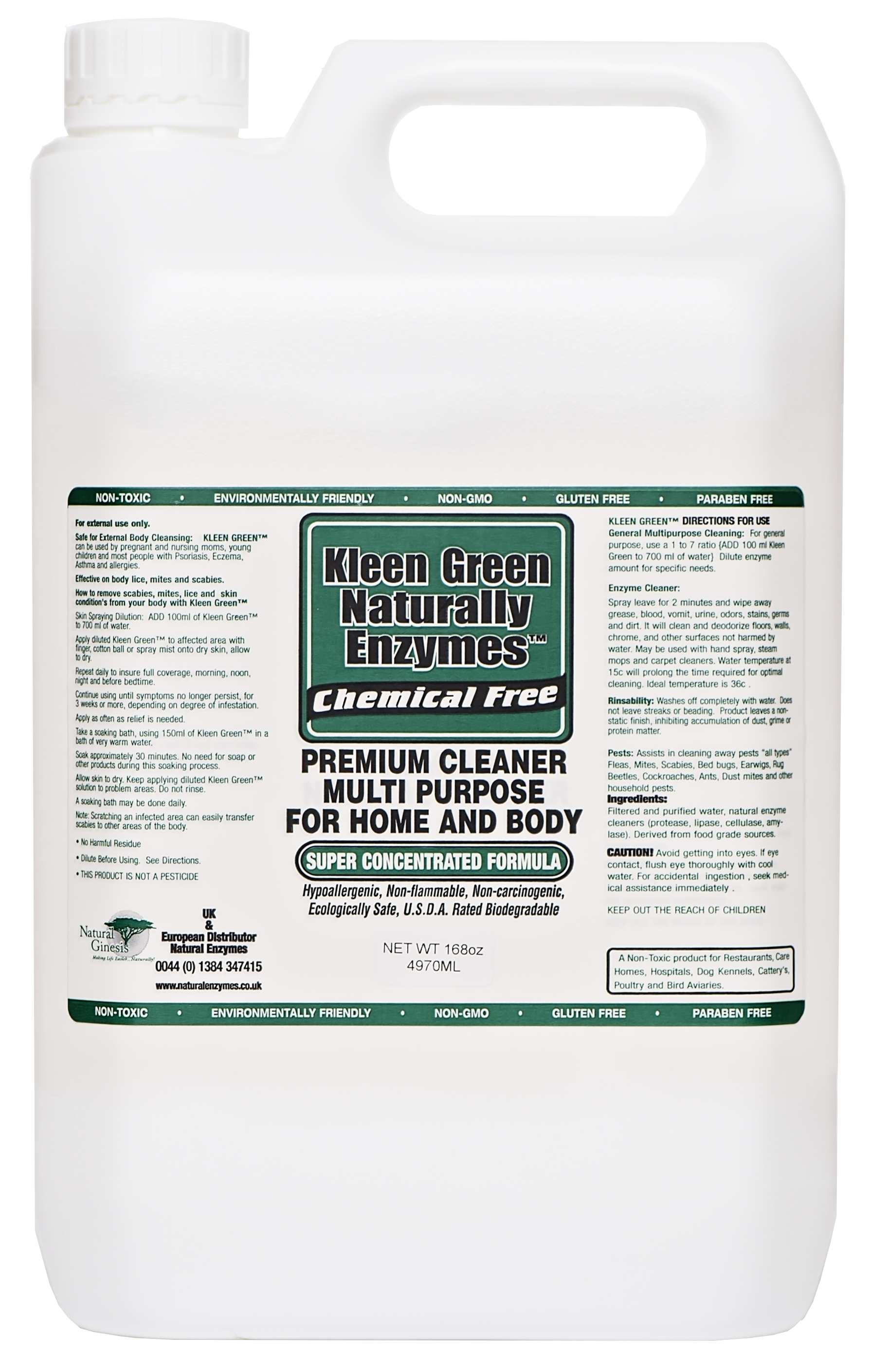 Kleen Green Concentrate 168oz For Home Cleaning